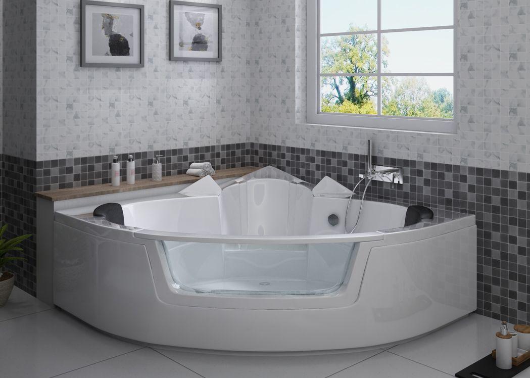 baignoire d 39 angle gain de place baignoire d 39 angle moderne. Black Bedroom Furniture Sets. Home Design Ideas