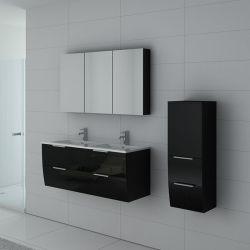 Meuble double vasque LIVOURNE Noir