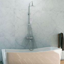 Colonne de douche PREZIOSA Th idéale pour salle de bain contemporaine