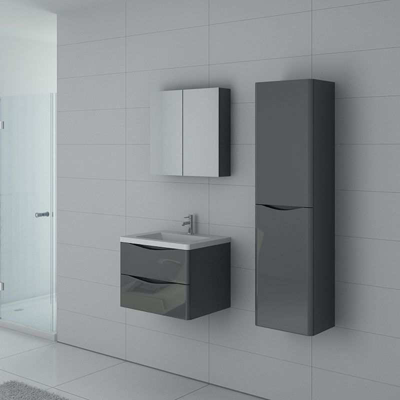 Meuble simple vasque TREVISE 600 Gris Taupe