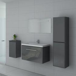 Meuble simple vasque SORRENTO Gris Taupe