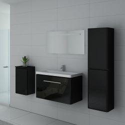 Meuble simple vasque SORRENTO Noir