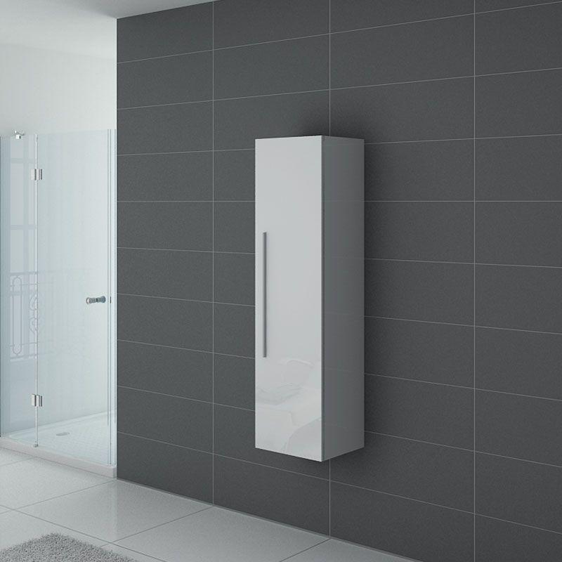 Colonne de rangement PAL150B salle de bain blanche