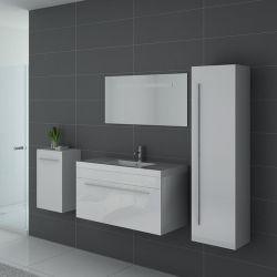 Meuble simple vasque SANREMO Blanc