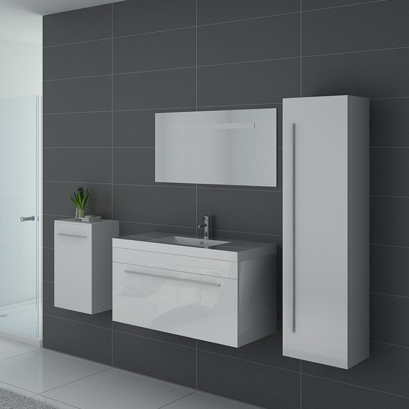 Meuble simple vasque SANREMO Blanc