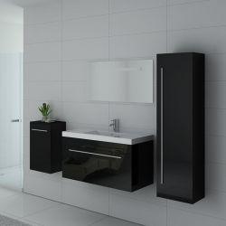 Meuble simple vasque SANREMO Noir