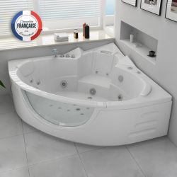 Baignoire balneo d'angle 2 places Seattle-S 26 jets