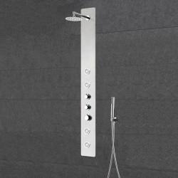 Colonne de douche hydromassante avec dôme de pluie orientable SDCFLTA025