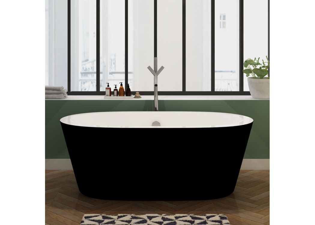 baignoire lot noire originale baignoire noire et blanche. Black Bedroom Furniture Sets. Home Design Ideas