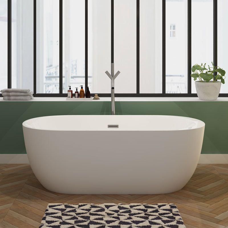 petite baignoire lot arrondie 170 cm reno jolie. Black Bedroom Furniture Sets. Home Design Ideas