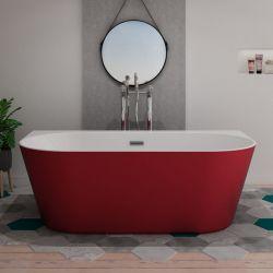 Baignoire îlot rouge design Lazzio Red