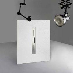 Receveur de douche en gel coat Ardesia Blanc 120x90cm