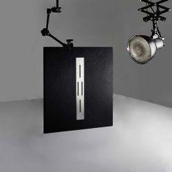 Receveur de douche en gel coat Ardesia Noir 100x80cm