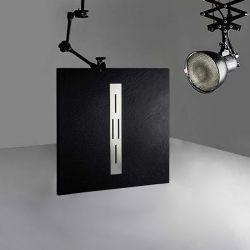 Receveur de douche en gel coat Ardesia Noir 100x90cm