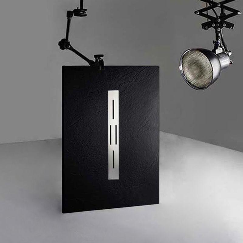 Receveur de douche en gel coat Ardesia Noir 120x80cm
