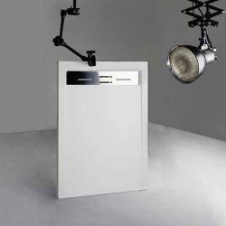Receveur de douche en Gel coat CANTO Blanc 120x80cm