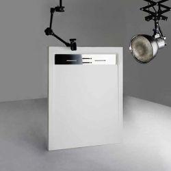 Receveur de douche en Gel coat CANTO Blanc 120x90cm