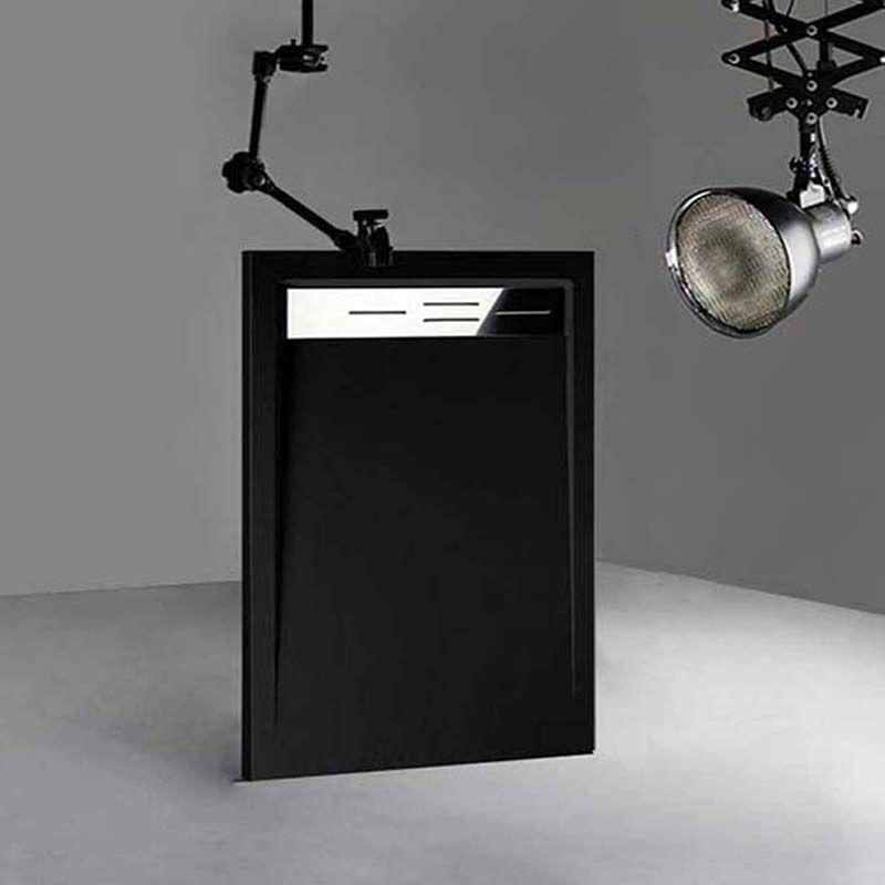 Receveur de douche en Gel coat CANTO Noir 120x80cm
