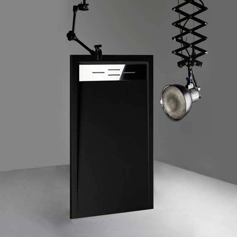 Receveur de douche en Gel coat CANTO Noir 160x80cm