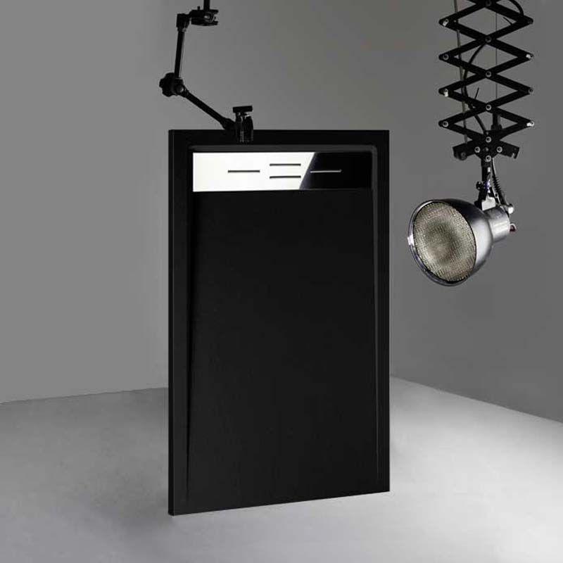 Receveur de douche en Gel coat CANTO Noir 160x90cm