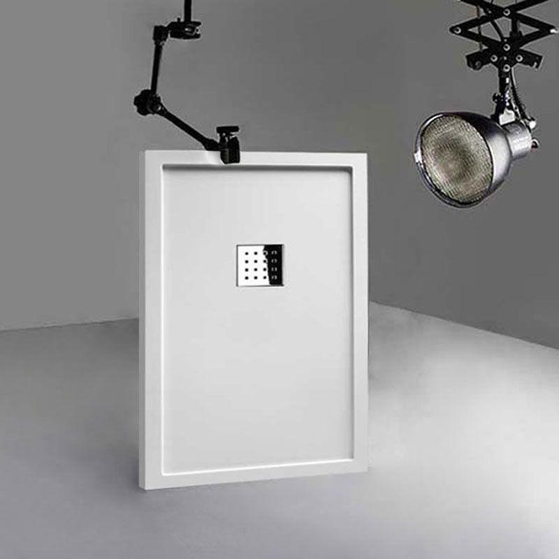 Receveur de douche en Gel coat avec rebords LISO ENMARCADO Blanc 120x80cm