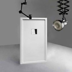 Receveur de douche en Gel coat avec rebords LISO ENMARCADO Blanc 140x80cm