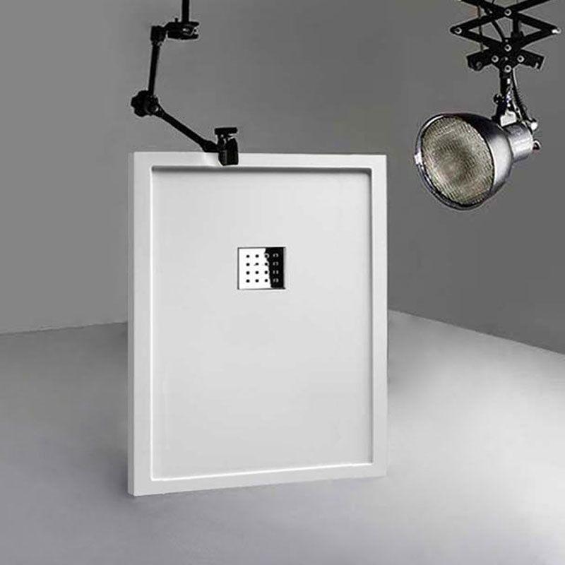 Receveur de douche en Gel coat avec rebords LISO ENMARCADO Blanc 120x90cm