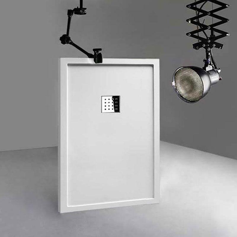 Receveur de douche en Gel coat avec rebords LISO ENMARCADO Blanc 140x90cm
