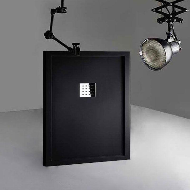 Receveur de douche en Gel coat avec rebords LISO ENMARCADO Noir 120x90cm