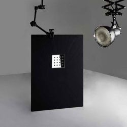 Receveur de douche en Gel coat PIZARRA Noir 120x80cm