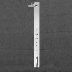 Colonne de douche avec 3 carrés de jets hydromassants SDCFLTA023