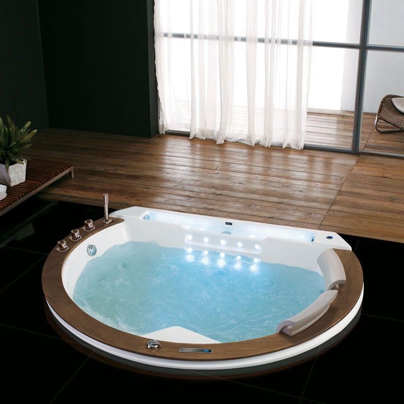 Baignoire balnéo 29 jets de massage Santorin encastrable