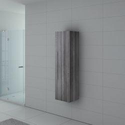 Colonne de rangement PAL150CG salle de bain Chêne Gris