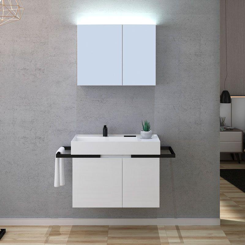 Meuble de salle de bain 1 vasque TERAMO 800