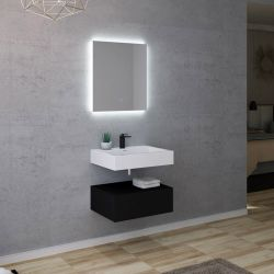 Dimensions du meuble simple vasque AVELLINO 600N