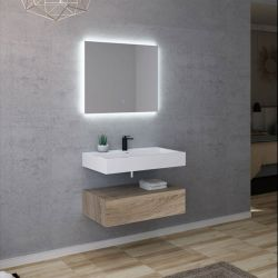 Meuble simple vasque design rustique AVELLINO-800SC