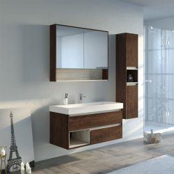 Meuble de salle de bain bois foncé ANZIO 1000