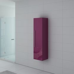 Colonne de rangement PAL150AU salle de bain aubergine
