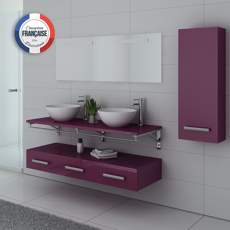ensemble double vasque Aubergine VIRTUOSE DUO