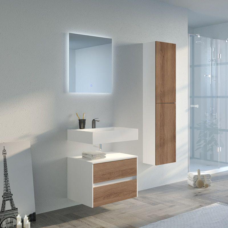 Meuble de salle de bain simple vasque VISENZA 600 SV