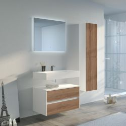 Meuble de salle de bain simple vasque VISENZA 800 SV