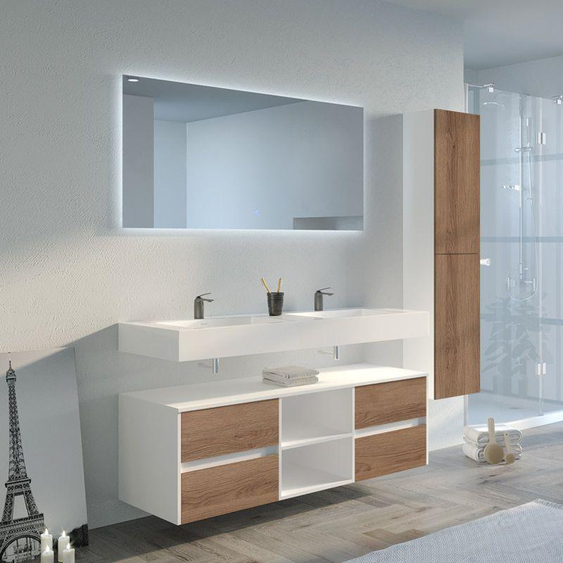 Meuble de salle de bain double vasque VISENZA 1400 SV