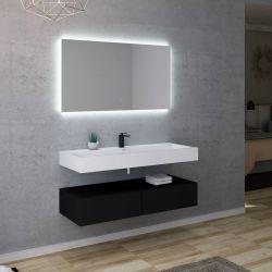 Ensemble de salle de bain simple vasque design AVELLINO-1200N