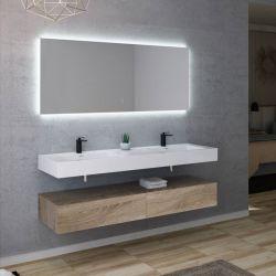 Meuble de salle de bain double vasque AVELLINO 1600SC