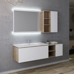 Dimensions Meuble simple vasque ALASSIO 1000