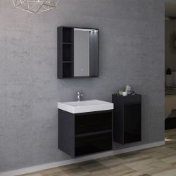 Plans meuble de salle de bain simple vasque BRIANZA 600