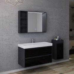 Plans meuble de salle de bain simple vasque BRIANZA 1000
