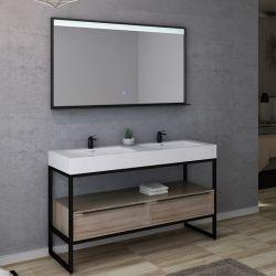 Plans et dimensions Meuble de salle de bain LAMEZIA 1400 Scandinave