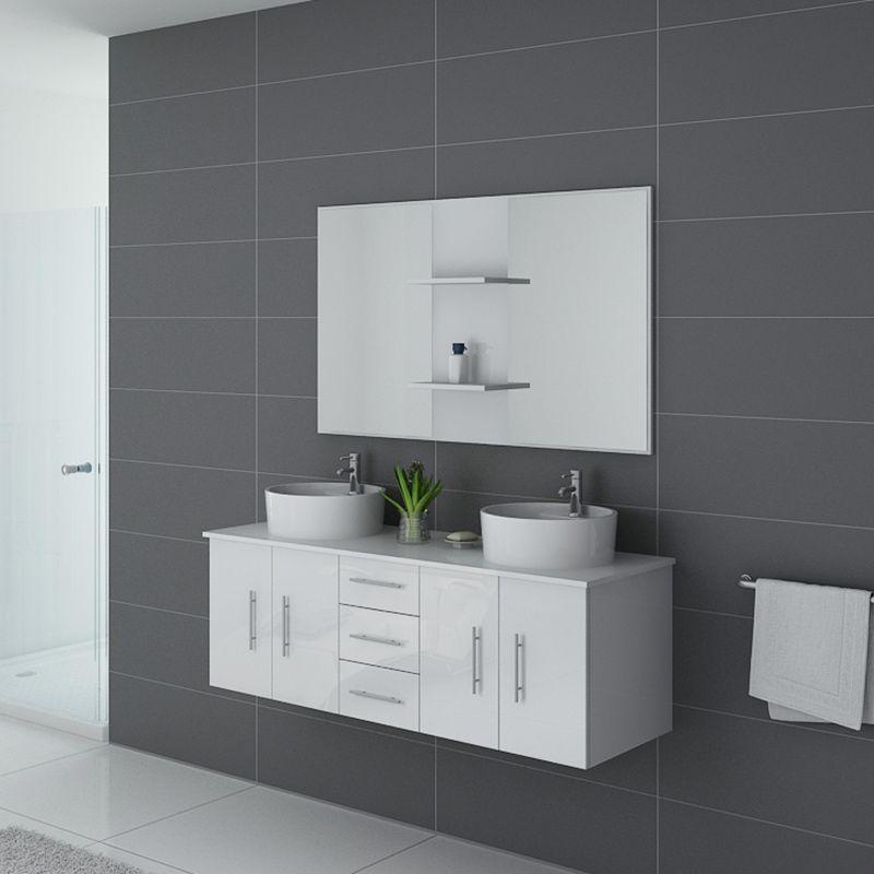 Meuble blanc de salle de bain CARSOLI Blanc
