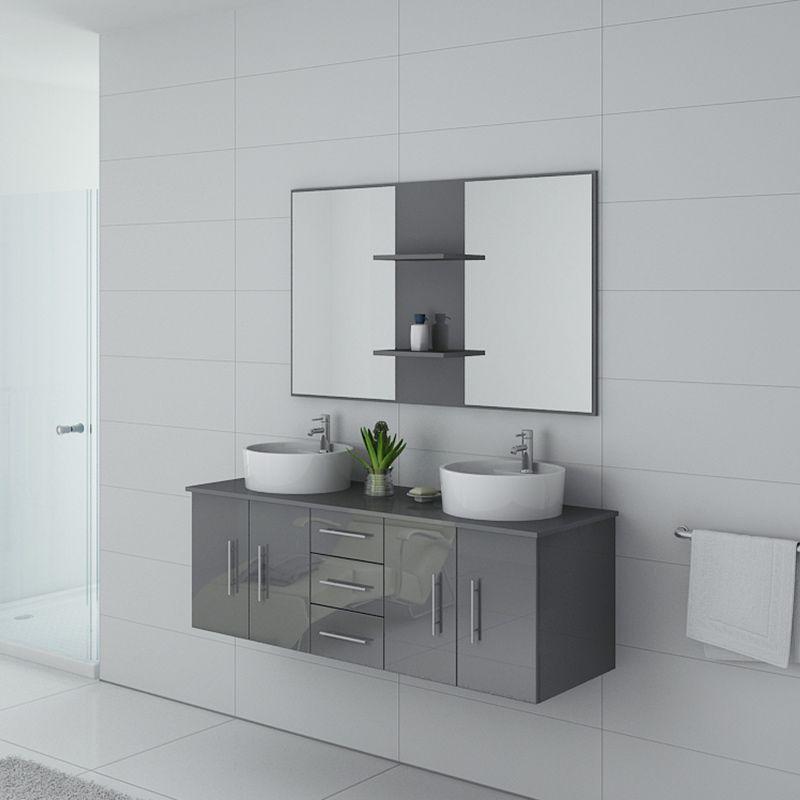 Meuble de salle de bain CARSOLI Gris taupe